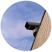 camaras de vigilancia situadas en lugares discretos